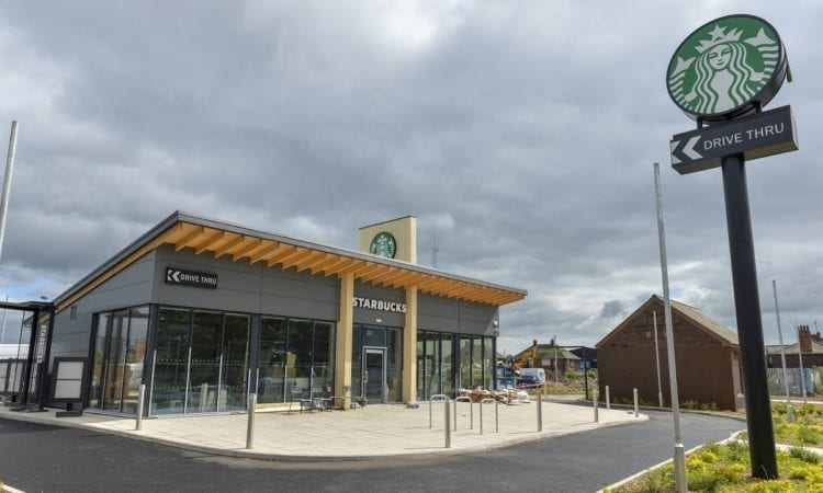The new Starbucks drive-thru in build on Clough Road in Hull.     Pictures copyright ©Darren Casey / DCimaging