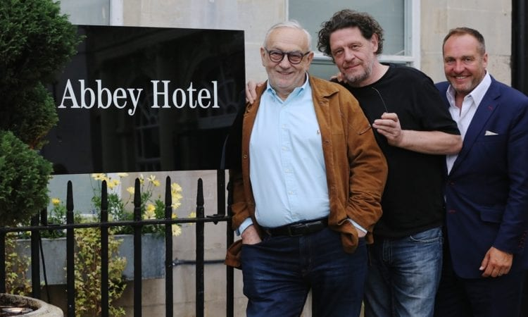 L - R: Pierre Koffmann, Marco Pierre White and Nick Taplin of Black and White Hospitality
