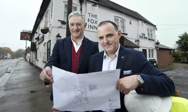 The Fox, Steventon is to benefit from a £280k investment.  Business partners, L-R, Sefa Memetovic and Ian Ellis, SI Leisure Group.